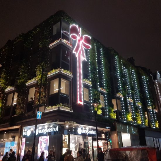 Living Wall, Covent Garden, Christmas