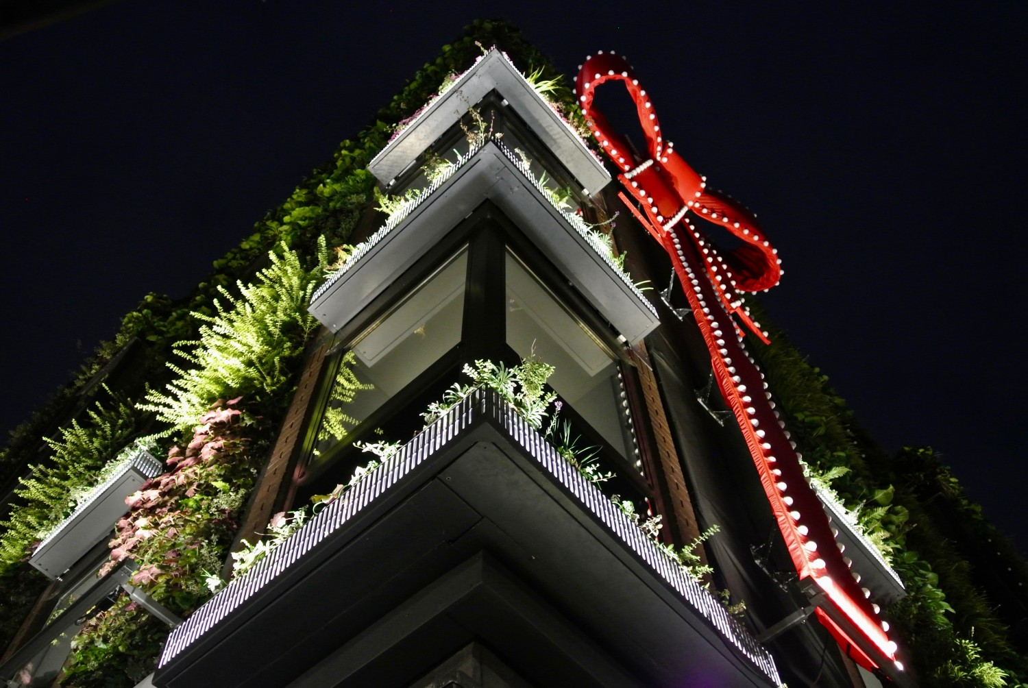 Covent Garden, Living Wall, Christmas